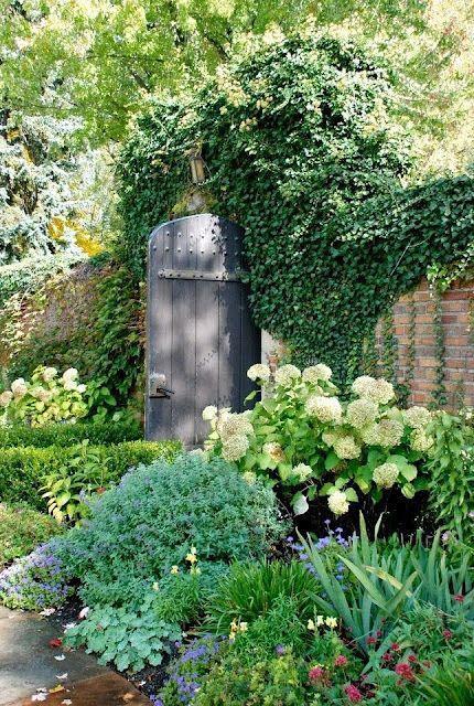 puertas ventanas flores bosques hortensias hermosa terrazas lugares entrada del jardn