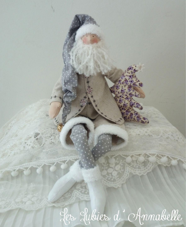 D coration p re no l inspiration tilda shabby chic gris - Navidad shabby chic ...