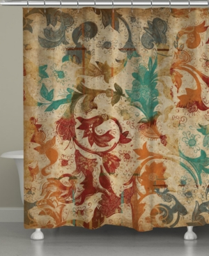 Floral Scroll Shower Curtain Bedding Floral Shower Curtains
