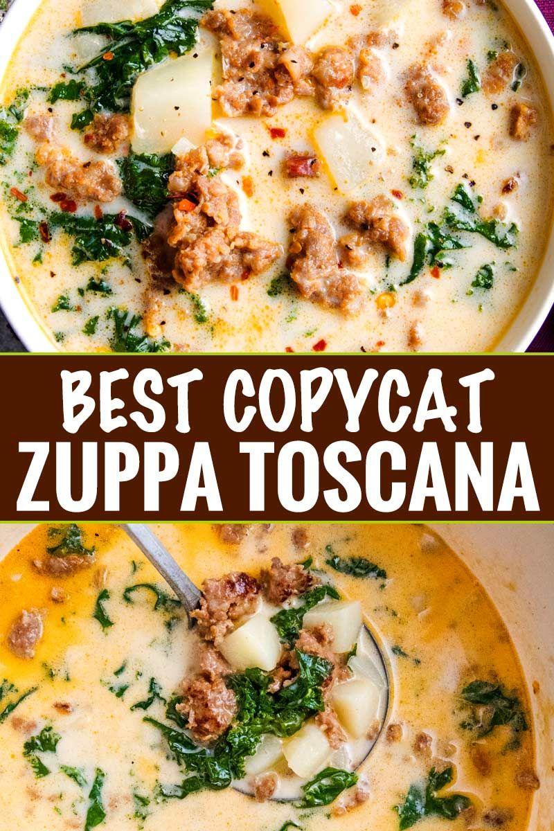 BEST Copycat Zuppa Toscana Recipe - The Chunky Chef #zuppatoscanasoup