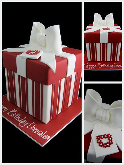 Superb Red White 40Th Birthday Present Cake Inspired By Michelle Cake Funny Birthday Cards Online Alyptdamsfinfo
