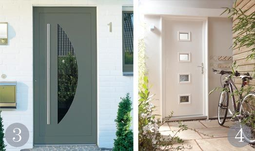 Bespoke Ecodora Mirea entrance door in green/grey from Sunfold Systems; Leeds Castle composite & Bespoke Ecodora Mirea entrance door in green/grey from Sunfold ...