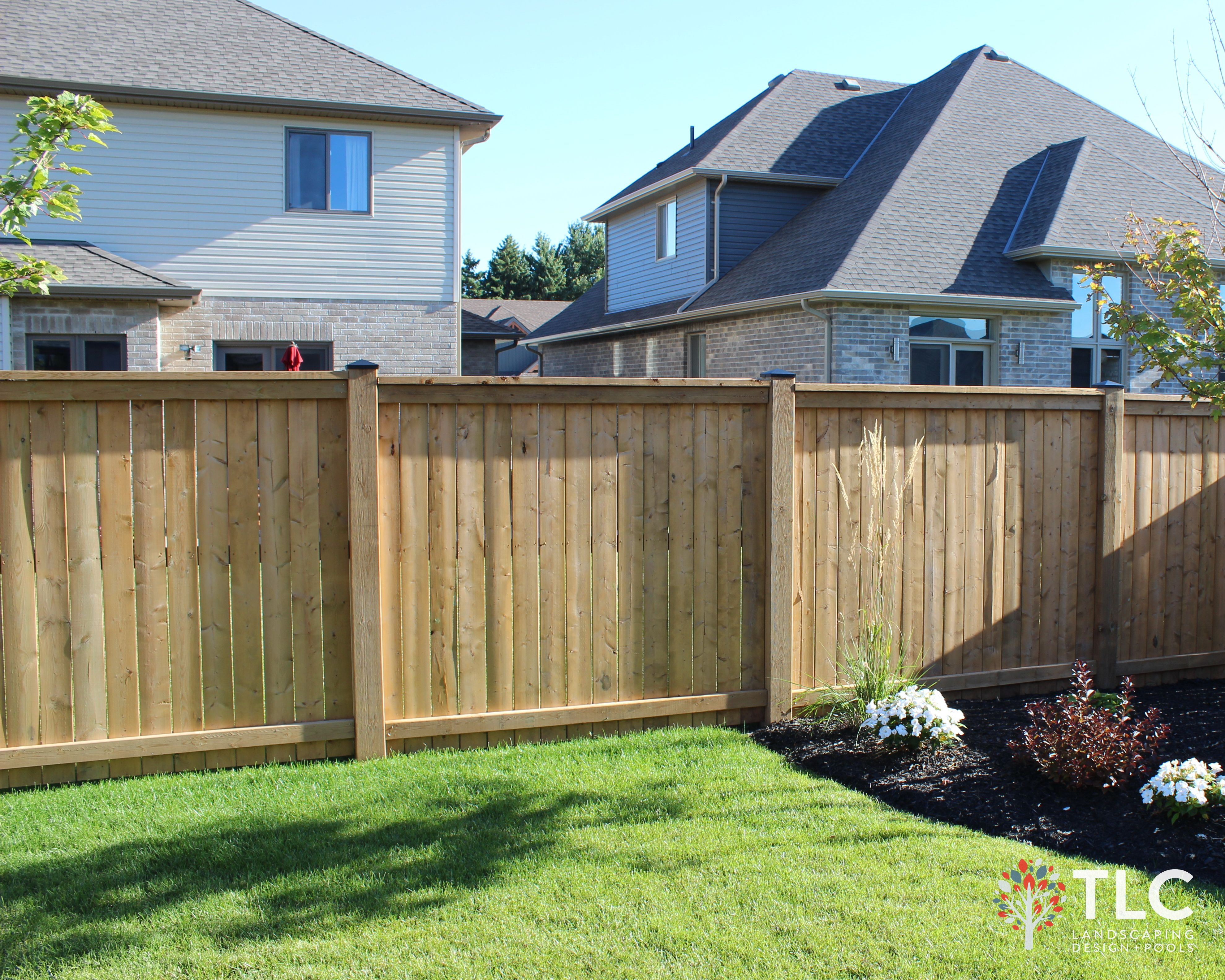 Pressure Treated Solid Board Fence, With 6