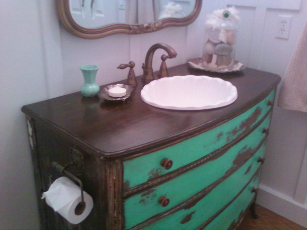 Turn a chest into a vanity.