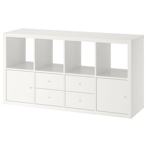 Kallax Insert With Door High Gloss White Ikea In 2020 Ikea Kallax Shelf Unit Kallax Shelf Unit Kallax Shelving Unit