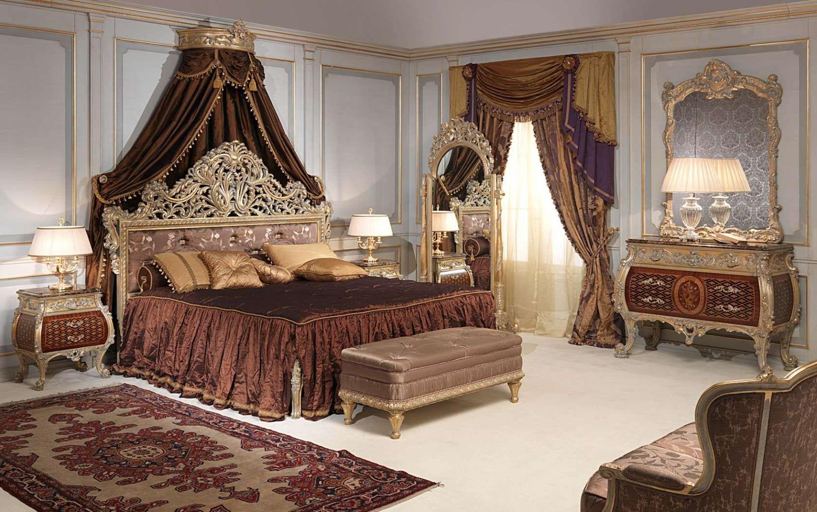 Luxury classic bedroom Louis XV Emperador gold | Vimercati Classic ...