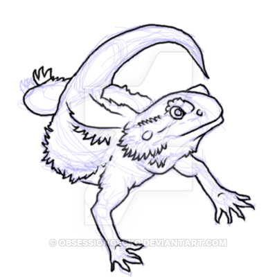 Bearded Dragon Sketch Wip 2 By Obsessiongecko On Deviantart Dragon Sketch Dragon Coloring Page Bearded Dragon Tattoo