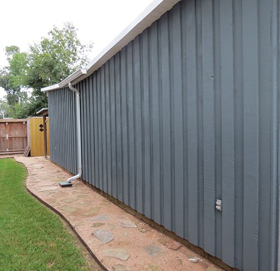 Cabot Stain in Foothill solid color on an exterior wall medium