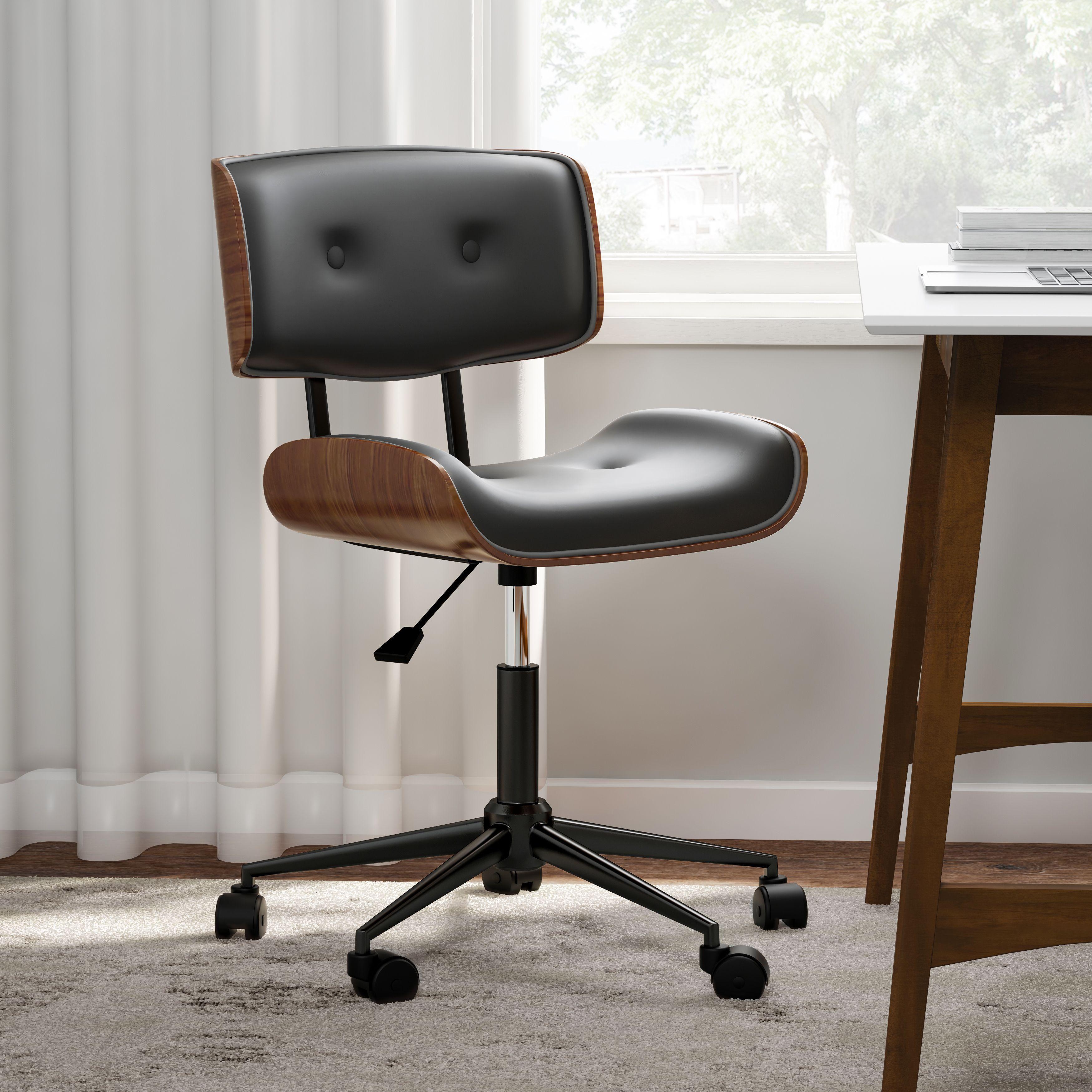 Carson Carrington Leksand Simple Mid Century Modern Office Chair Modern Office Chair Mid Century Modern Office Chair Mid Century Modern Desk Chair