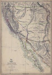 Map Of Arizona 1858.Map Of California Utah Lower California And New Mexico 1858