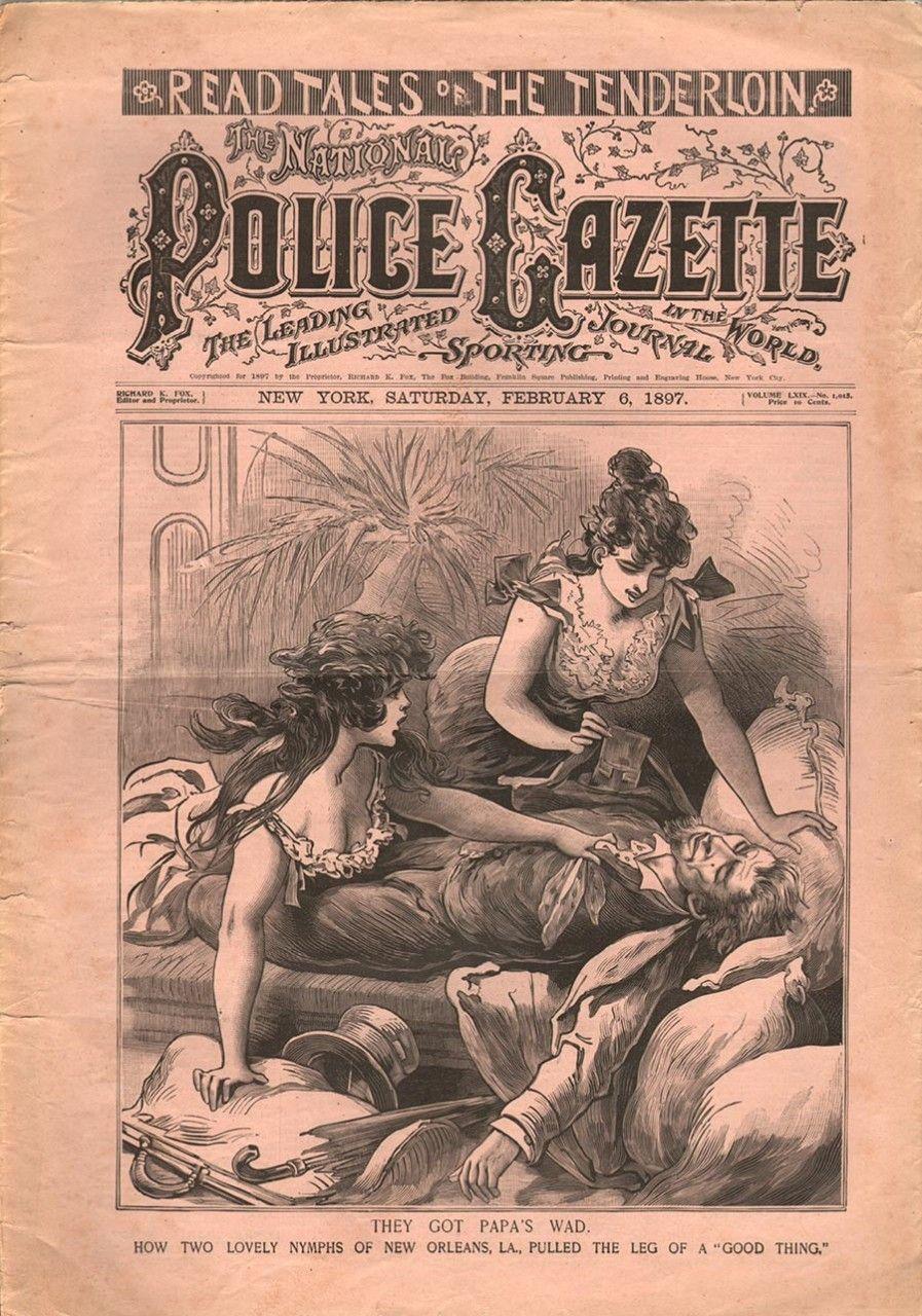 Image result for 1890s  police gazette