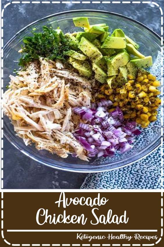 Take Chicken Salad To A New Level With The Addition Of Avocado This Naturally Creamy Chicken A Delicious Magazine Recipes Healthy Recipes Easy Healthy Recipes