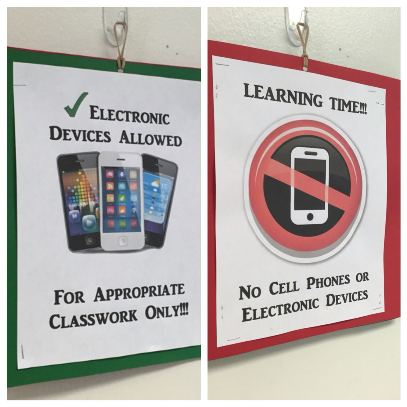 Cell Phone Classroom Rule With Images