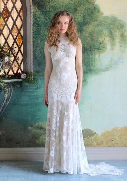 Cheyenne Romantique by Claire Pettibone Lace Wedding Dress – Claire ...