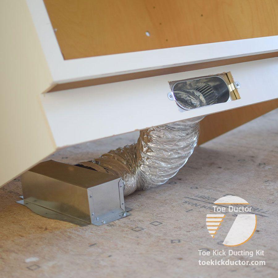 Toe Ductor Floor Vent Kits Best Selling Under Cabinet Hvac Ducting Solution Floor Vents Installing Cabinets Flooring