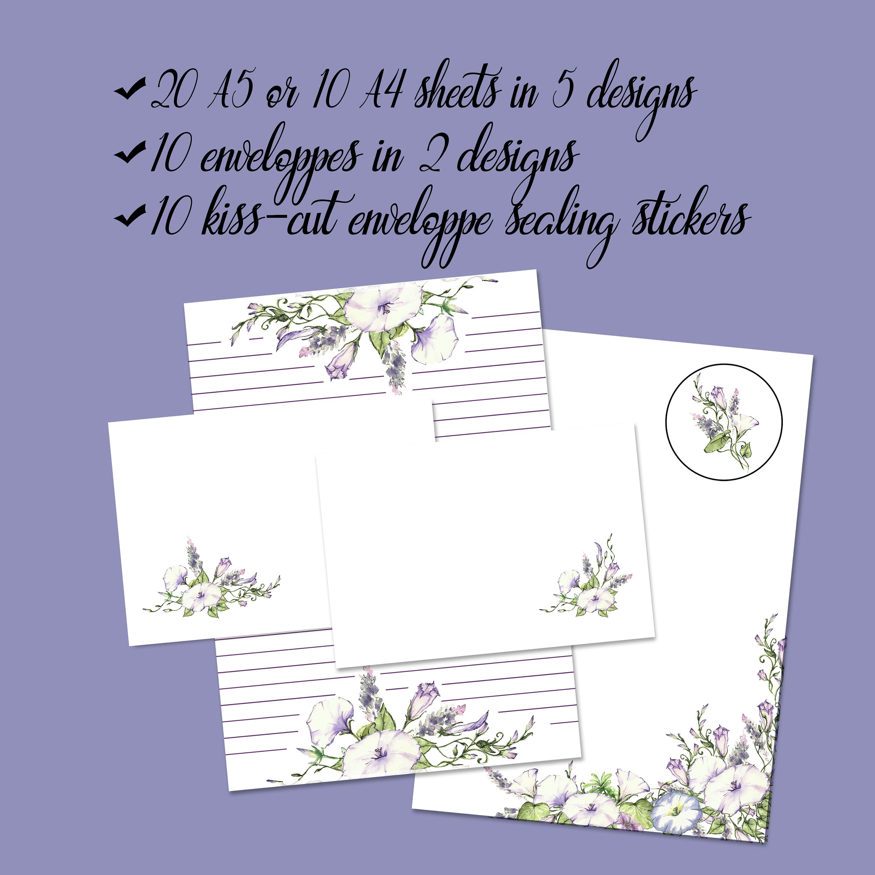 Writing Snail Mail Custom Available Cute Stationery Set for Pen Pals Girl Reading Book Picnic Letter Set