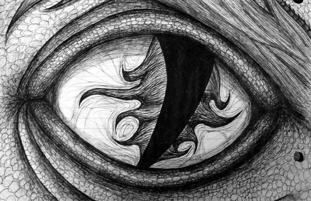 Pix for cool dragon eye drawings