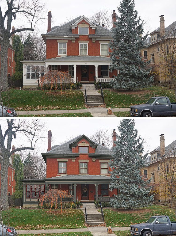 Historic Paint Colors Before And After Old House