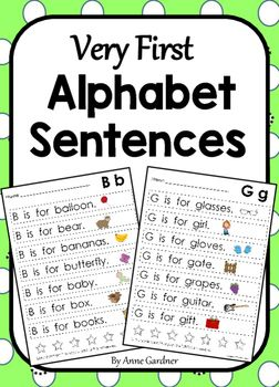 Alphabet: Letter Sentences to Teach Beginning Sounds & Letter