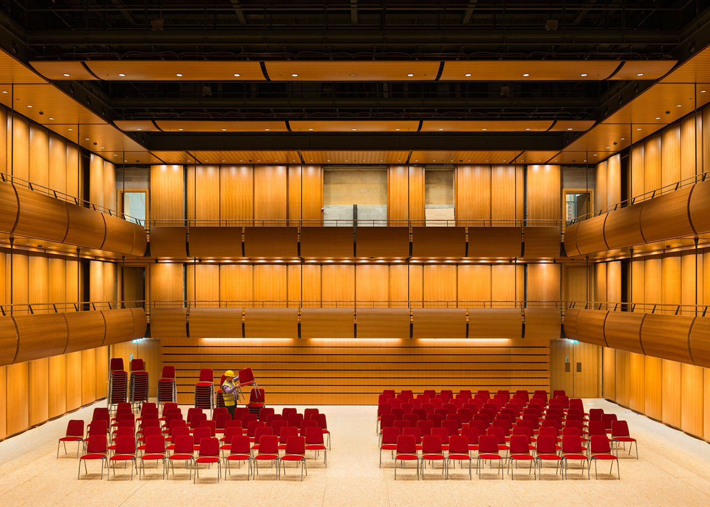 Alternative Stage. Greek National Opera. Stavros Niarchos Foundation Cultural Center by Renzo Piano. Photograph © Yiorgis Yerolymbos, courtesy of Renzo Piano and Stavros Niarchos Foundation.