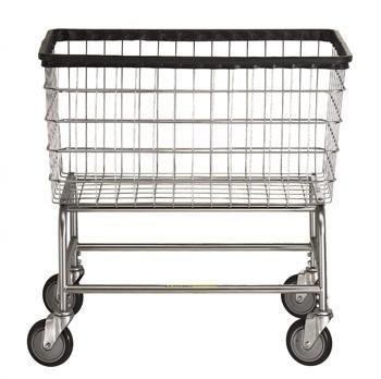 R B Large Capacity Rolling Laundry Cart Chrome Basket P N 200f