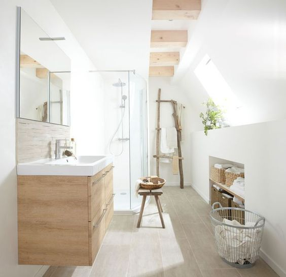 salle de bains moderne ambiance cosy salles de bain en. Black Bedroom Furniture Sets. Home Design Ideas
