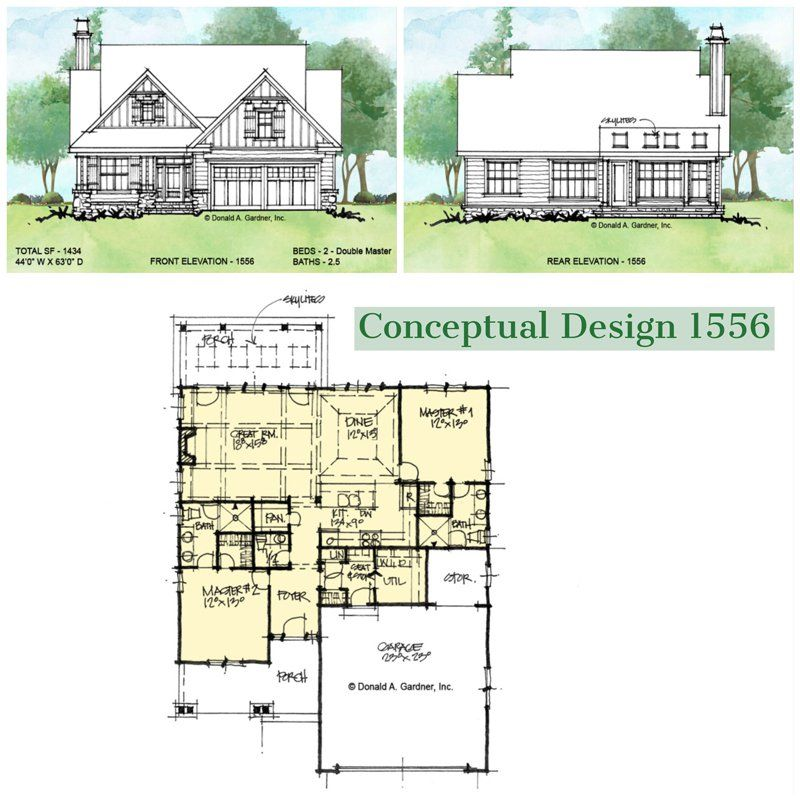 Overview Of Conceptual House Plan 1556 House Plans New House Plans How To Plan