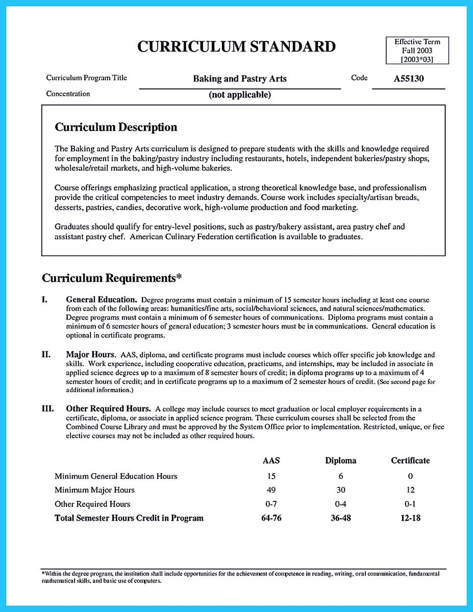 Nice Excellent Culinary Resume Samples To Help You Approved Check