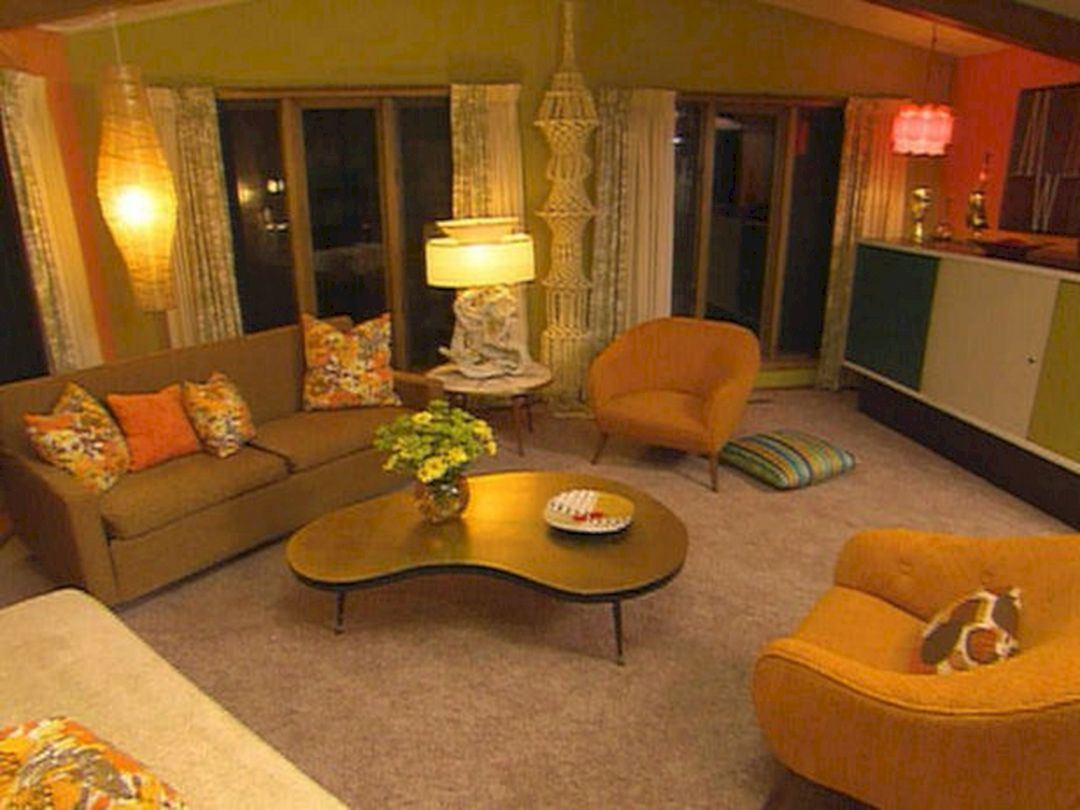 Retro Living Rooms 70s Home Decor