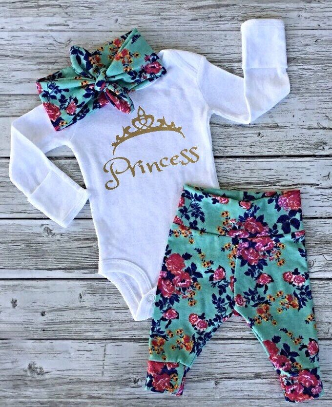 Baby Girl Coming Home Outfit Baby Girl Outfit Newborn Girl