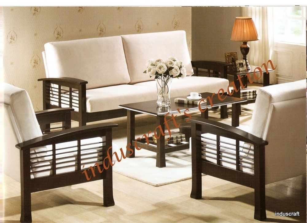 set of chairs for living room wooden sofa set furniture pinte 25618