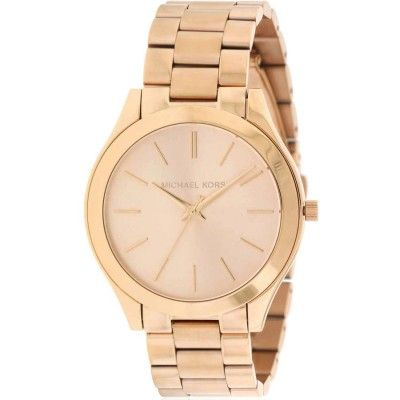 b7c11d480ac2 Michael Kors Slim Runway Rose Gold-Tone Women s Watch