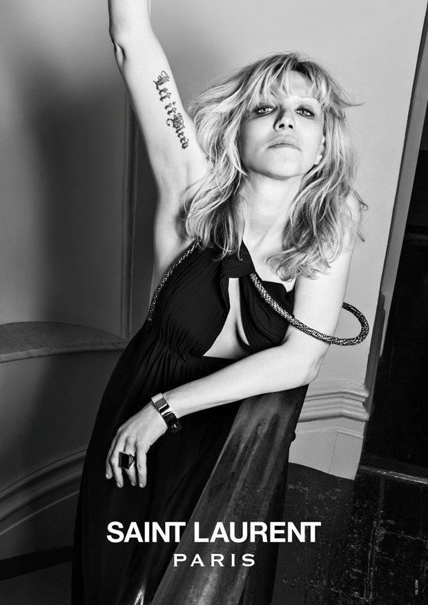 Courtney Love for Saint Laurent
