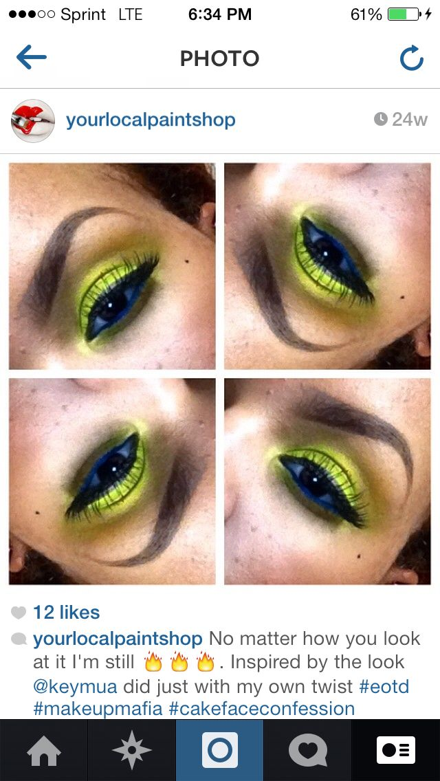 Fun eye make! I love..  Follow yourlocalpaintshop on Instagram Instagram : @yourlocalpaintshop