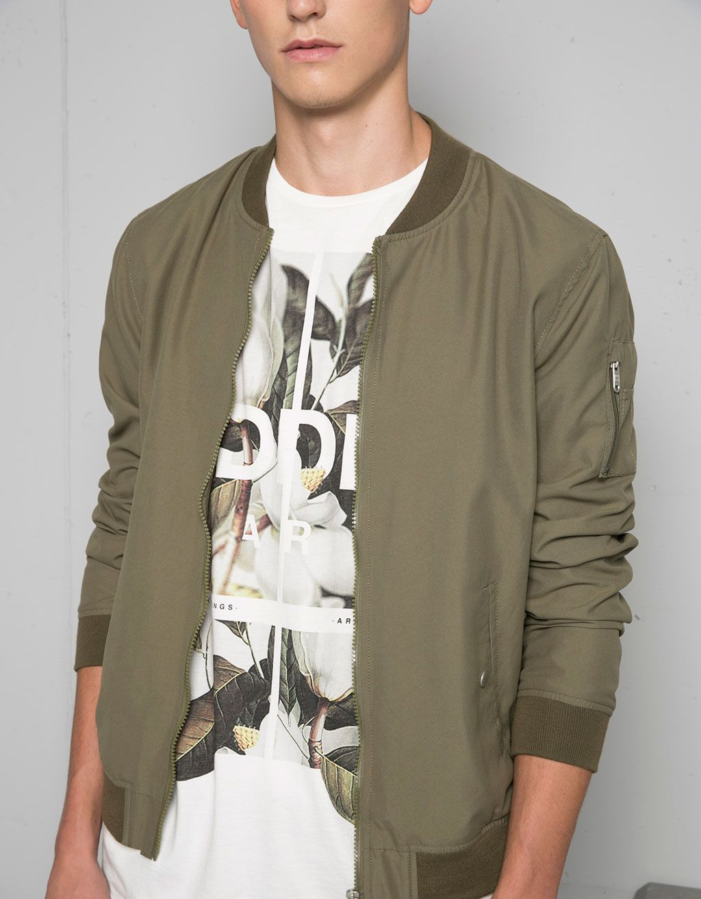 Coloured bomber jacket - Jackets and Blazers - Bershka Belgium ...