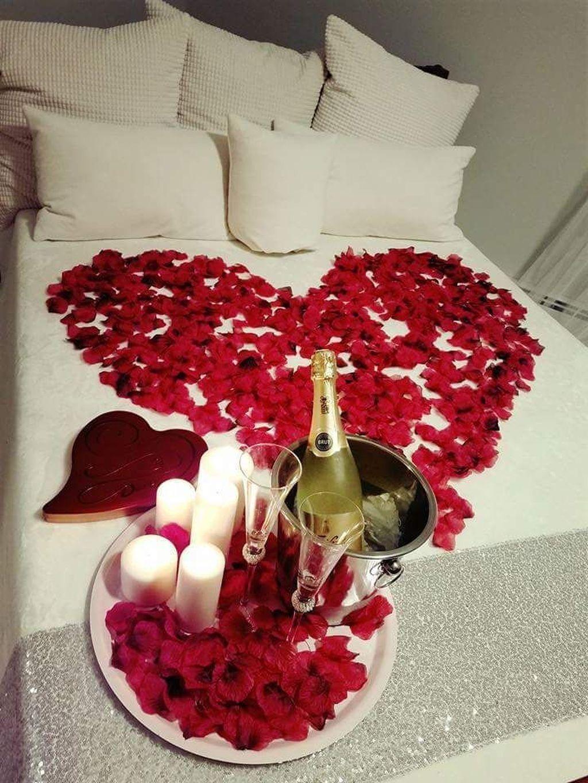 Awesome 43 Best Valentines Day Bedroom Decoration Ideas Romantic Room Decoration Romantic Room Surprise Valentine Bedroom Decor