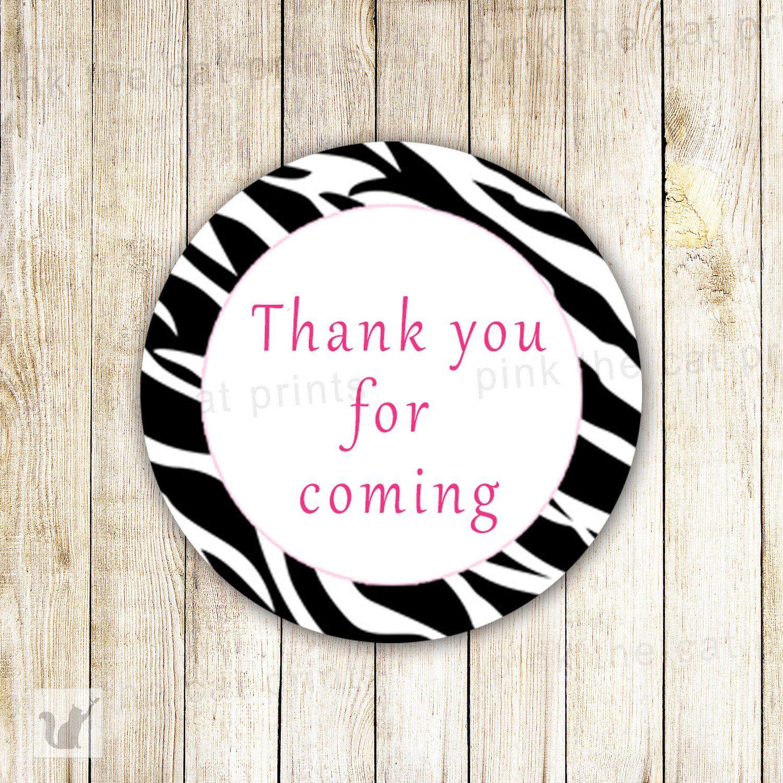 Zebra Favor Labels Sticker Tag Birthday Baby Bridal Shower | Favors ...
