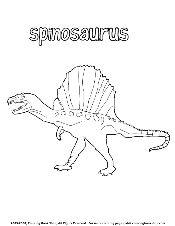 Spinosaurus Coloring Page By Coloringbookshop Com Spinosaurus Coloring Pages Dinosaur Coloring Pages