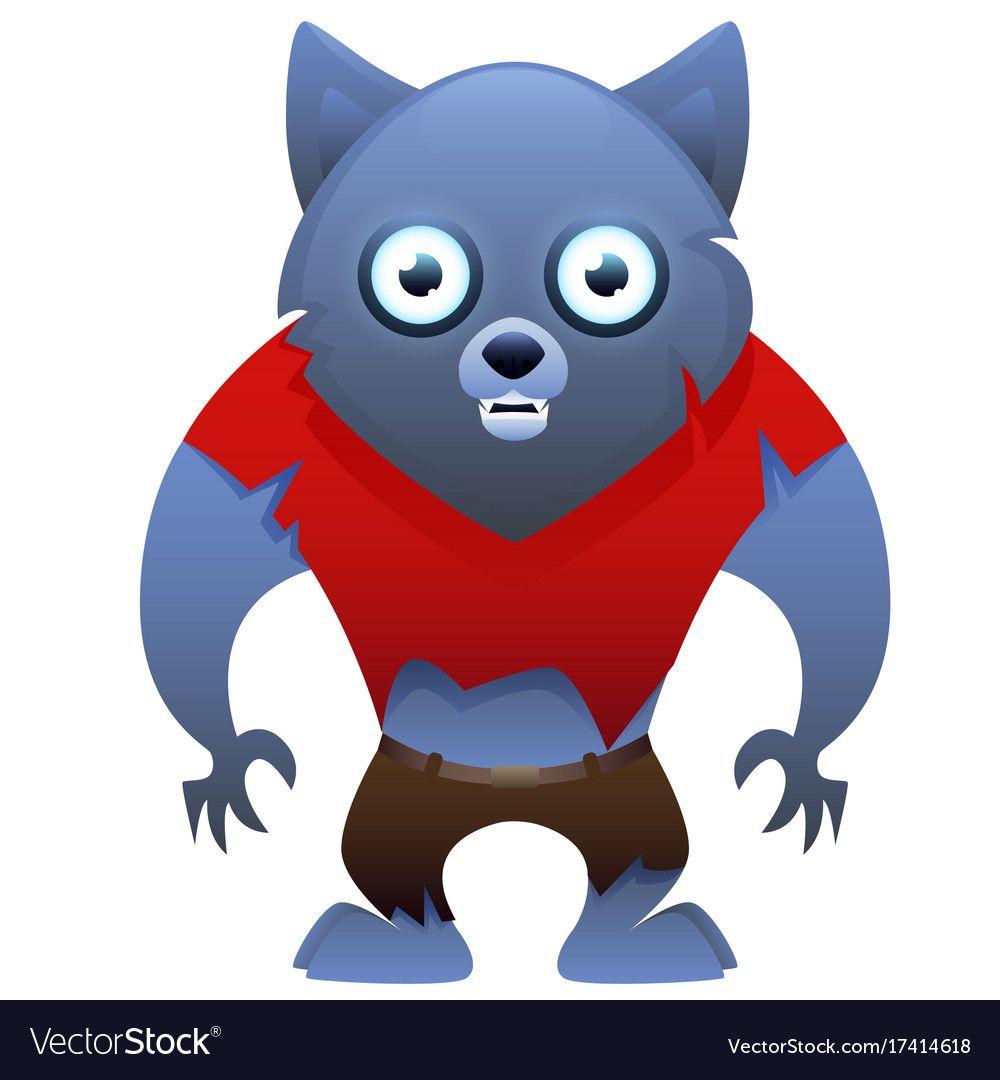 Werewolf cute cartoon character vector image on ...