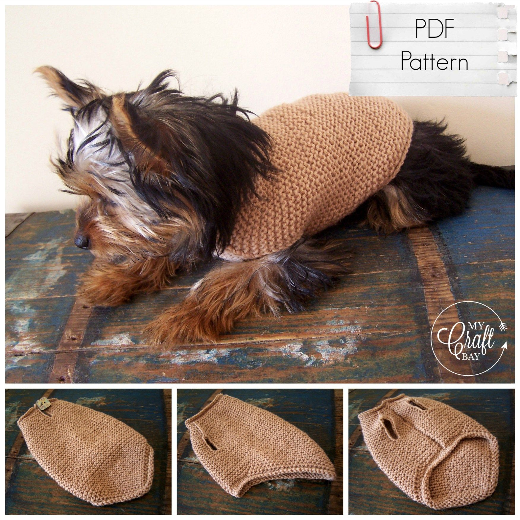 knitted dog sweater PDF pattern | dog sweaters | Pinterest ...