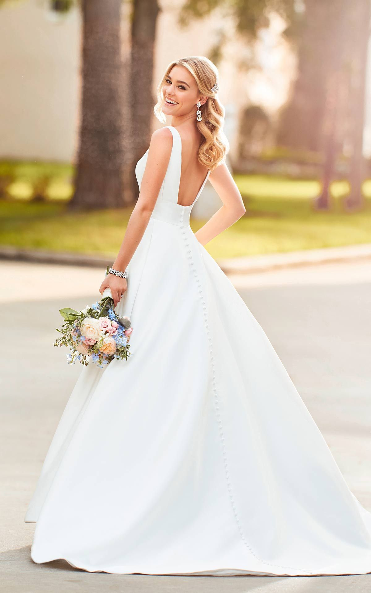 c75cba437608 Plus Size Wedding Dress - Sample Size 20 - Inventory #2580 | Dress  available at Bride To Be Couture | www.bridetobecouture.com |  @bridetobecouture | Simple ...