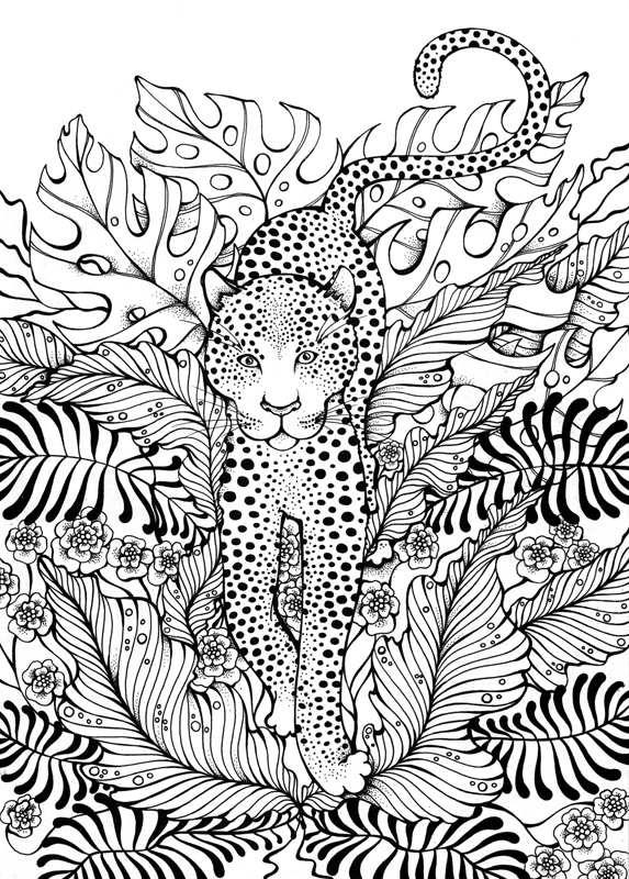 9 Leopard Jungle Jungle Coloring Pages Coloring Book Pages Coloring Pages