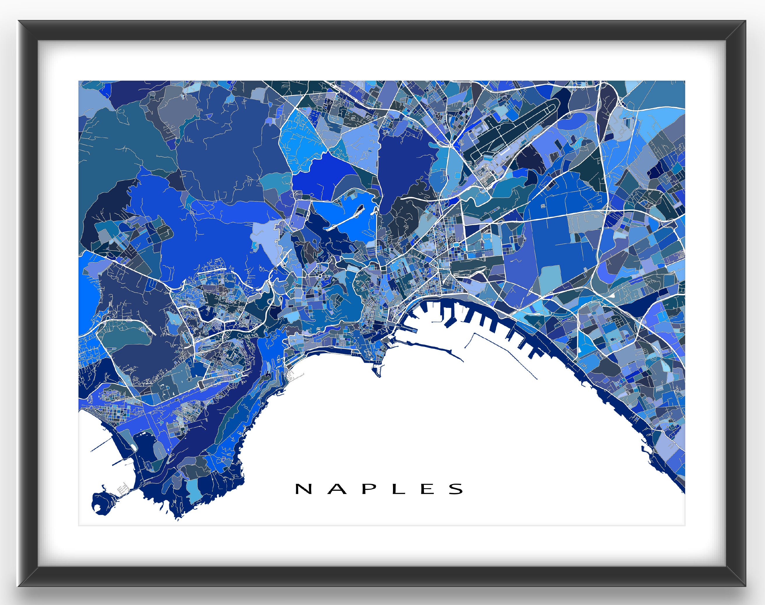 Naples map print featuring the historic city of naples italy this naples map print featuring the historic city of naples italy this naples map art gumiabroncs Image collections