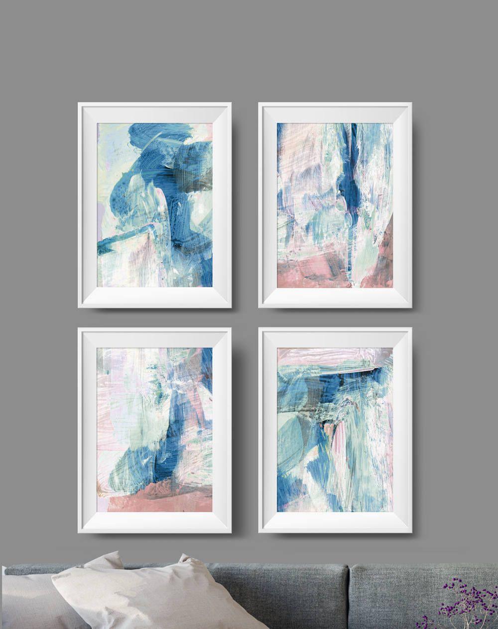 Large Wall Art Set of 4 Prints Instant download Art 11x14 Wall Art Bedroom Art Print Printable Abstract Art Abstract Art Prints