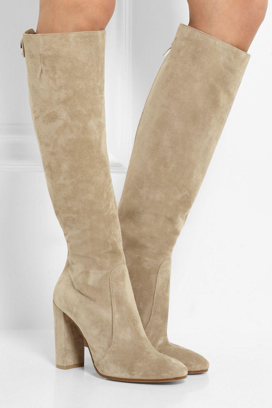 Mode femme Bottes hiver pour femmes Bottes Bas Chaussures plates Cavalières Bottes en suède longues et des bottes courtes MhkkjJTmo0