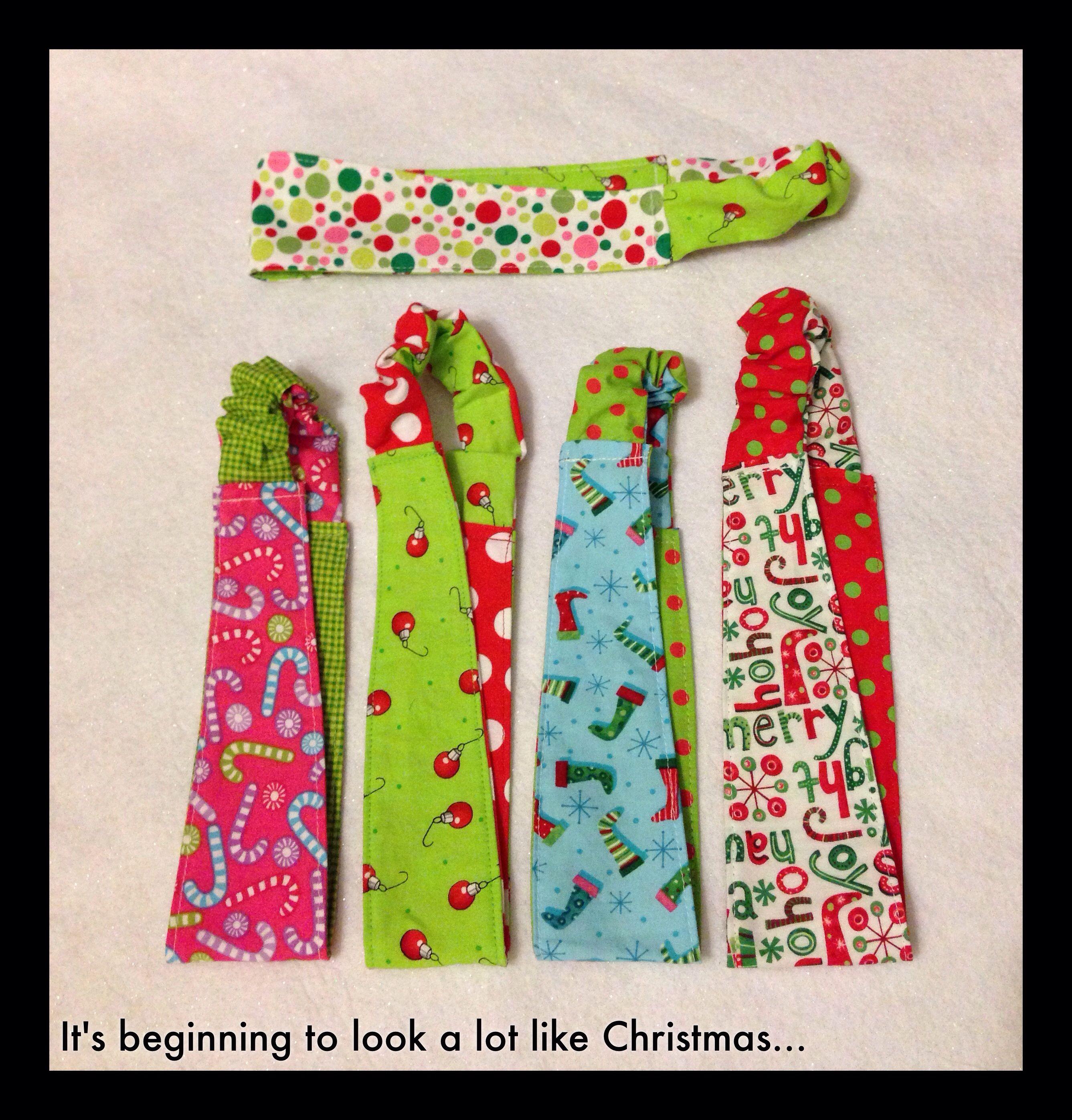 Holiday headbands! (Find me on Facebook at Ahuva Penina Designs).
