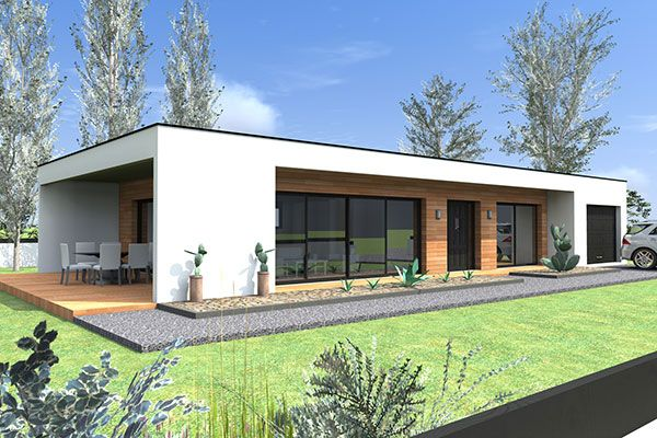 Constructeur maison contemporaine plain pied mod le for Constructeur maison contemporaine idf