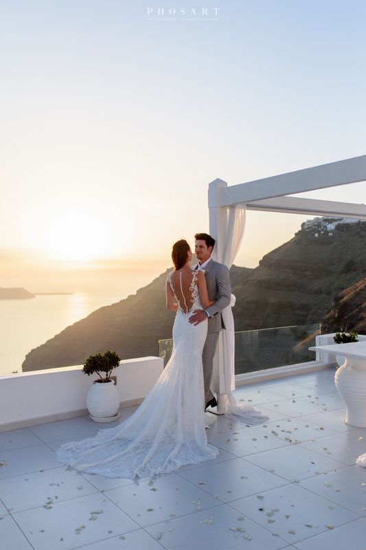 Dana villas sunset wedding invitations