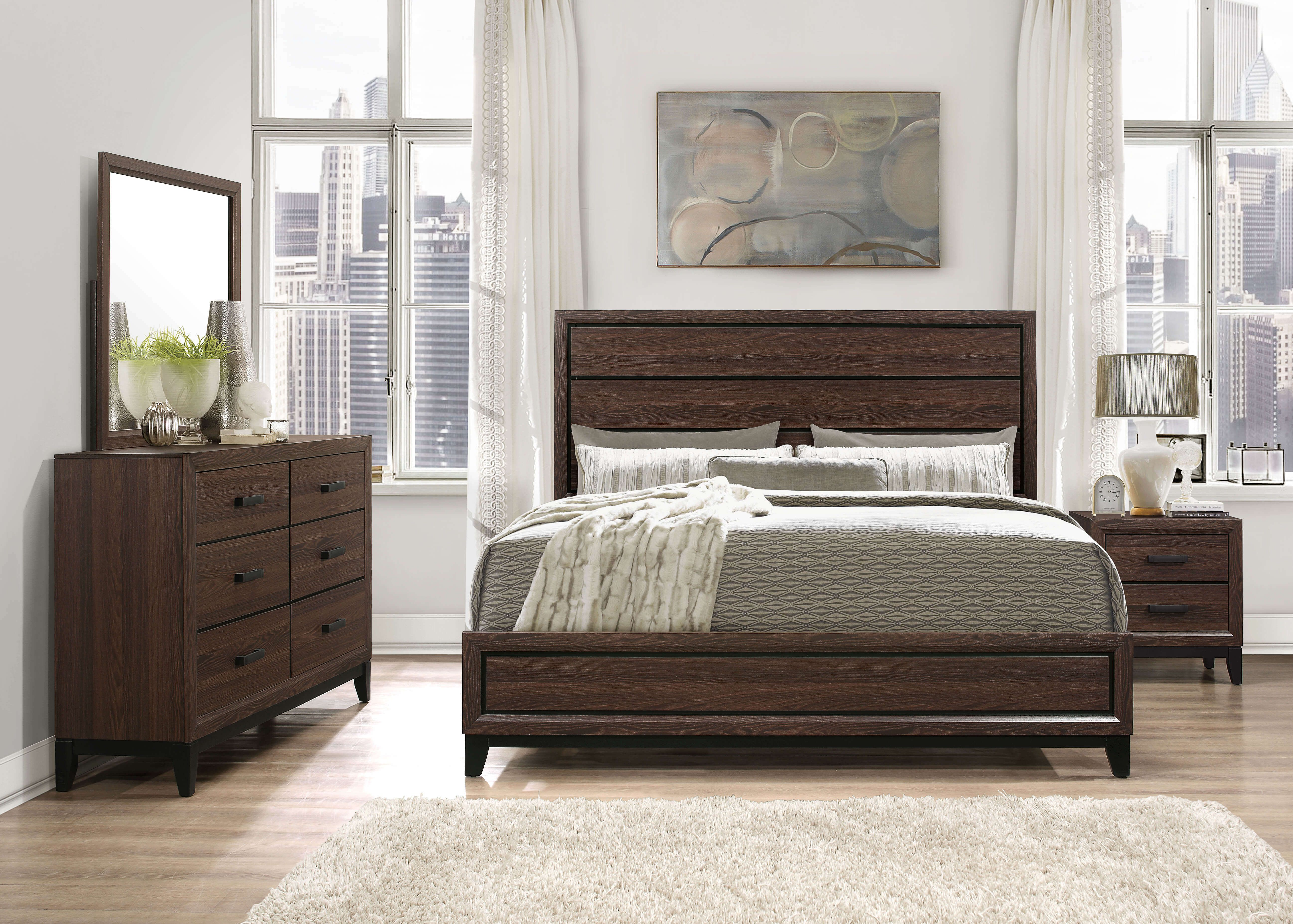 Kate Beech Wood Chocolate Bedroom Set-DISCONTINUED ...