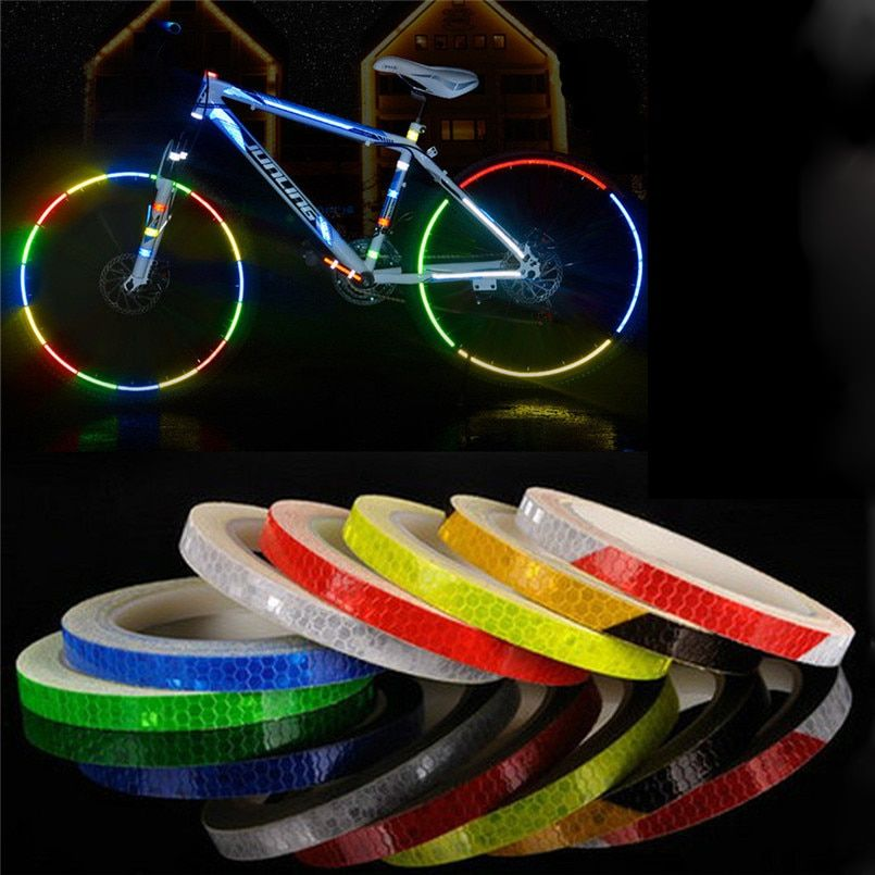 Reflective Stickers Motorcycle Bicycle Reflector Bike Cycling